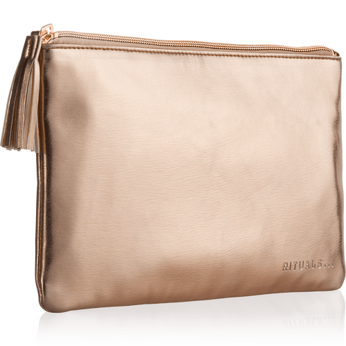 Make Up Bag - Metallic Rose